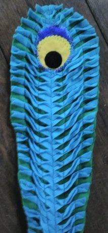 Craft felt, slashed and machine stitched