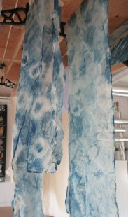Scarves drying